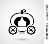 carriage icon vector | Shutterstock .eps vector #220219906