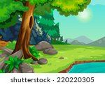 illustration of forest with a... | Shutterstock .eps vector #220220305