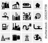 oil  icons set on gray  | Shutterstock .eps vector #220229758
