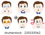 comic character expression  | Shutterstock .eps vector #220233562