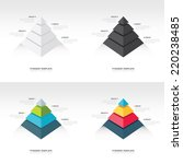 pyramid  infographic template... | Shutterstock .eps vector #220238485