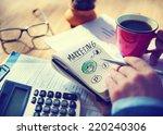 businessman working on a... | Shutterstock . vector #220240306