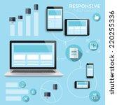 responsive web design... | Shutterstock .eps vector #220255336