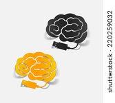 realistic design element  brain ... | Shutterstock .eps vector #220259032