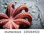 Freshly Cooked Purple Octopus