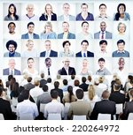 business people sitting with... | Shutterstock . vector #220264972