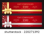 luxury christmas gift... | Shutterstock .eps vector #220271392