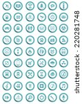 vector icons | Shutterstock .eps vector #220281748