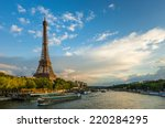 beautiful sunset over eiffel... | Shutterstock . vector #220284295