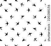 Flying Birds Silhouette Black...
