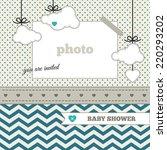 baby shower invitation ... | Shutterstock .eps vector #220293202