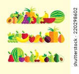 fruit vector illustration | Shutterstock .eps vector #220298602