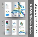 tri fold brochure design... | Shutterstock .eps vector #220299955
