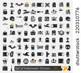 set of halloween icons | Shutterstock .eps vector #220310776