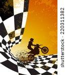 Motocross Background Design...
