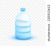 vector illustration 3d plastic... | Shutterstock .eps vector #220312612