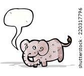 cartoon elephant | Shutterstock .eps vector #220317796