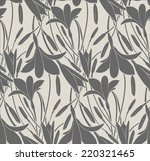 seamless pattern with flowers... | Shutterstock .eps vector #220321465