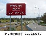 Wrong Way Sign On Kwinana...