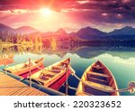 majestic mountain lake in... | Shutterstock . vector #220323652
