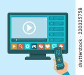 vector smart tv concept  ... | Shutterstock .eps vector #220325758