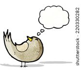 cartoon bird with thought bubble | Shutterstock .eps vector #220330282