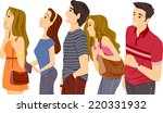 illustration featuring a queue... | Shutterstock .eps vector #220331932