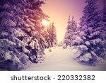 fantastic landscape glowing by... | Shutterstock . vector #220332382