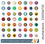 set of halloween flat icons | Shutterstock .eps vector #220336732