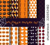 10 different halloween vector... | Shutterstock .eps vector #220352482