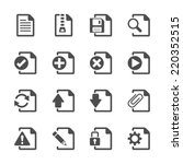 file document icon set  vector... | Shutterstock .eps vector #220352515