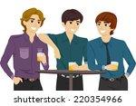 illustration featuring guys... | Shutterstock .eps vector #220354966