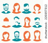 people icons  avatars  flat... | Shutterstock .eps vector #220357312