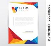 multicolored letterhead... | Shutterstock .eps vector #220358092