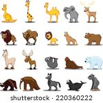 super set of vector cute... | Shutterstock .eps vector #220360222