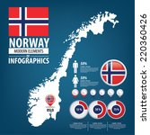norway vector set. flags and... | Shutterstock .eps vector #220360426
