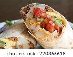 Close Up Of Half Burrito