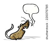 mouse with speech bubble cartoon | Shutterstock .eps vector #220370785