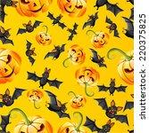 seamless halloween pattern | Shutterstock .eps vector #220375825
