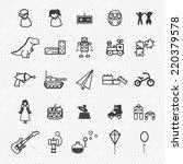 toy icons set.illustration eps10