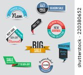 collection of sale discount... | Shutterstock .eps vector #220380652