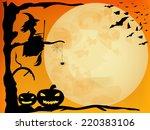 halloween  design   witch ... | Shutterstock .eps vector #220383106