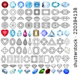 illustration cut precious gem... | Shutterstock .eps vector #220384138