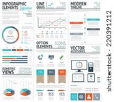 infographic business and... | Shutterstock .eps vector #220391212
