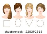 set of different woman's faces. ...