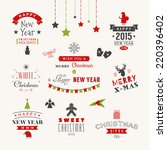 christmas decoration set of... | Shutterstock .eps vector #220396402