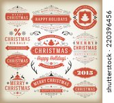christmas decoration vector... | Shutterstock .eps vector #220396456