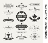 retro vintage insignias or... | Shutterstock .eps vector #220396498