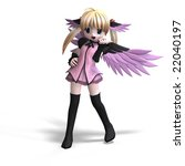 sweet fantasy angel with wings... | Shutterstock . vector #22040197