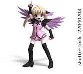 sweet fantasy angel with wings... | Shutterstock . vector #22040203